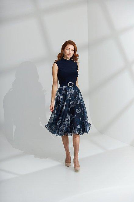 Joseph Ribkoff Floral Bottom Dress Style 203321