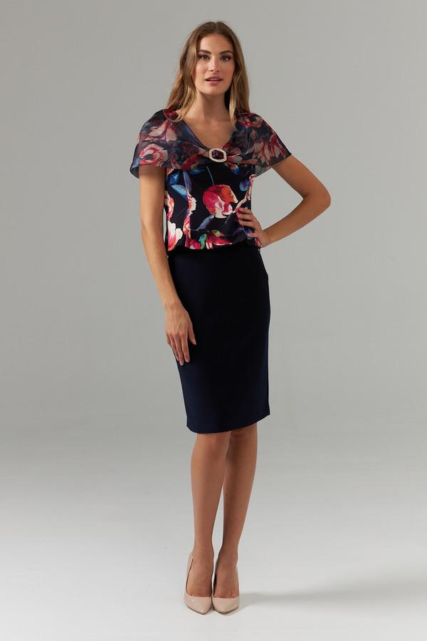 Joseph Ribkoff Chemises et blouses Bleu Minuit/Multi Style 203335
