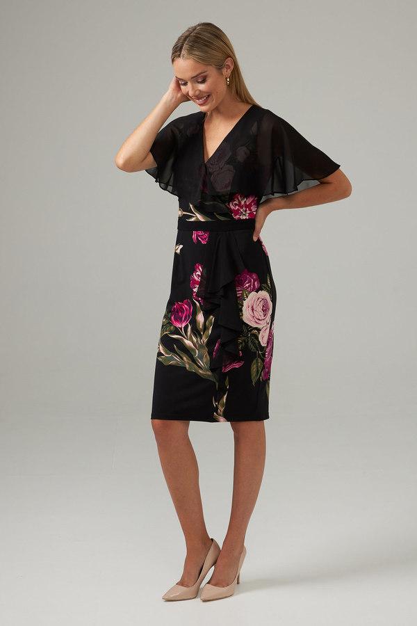 Joseph Ribkoff Black/Multi Dresses Style 203355