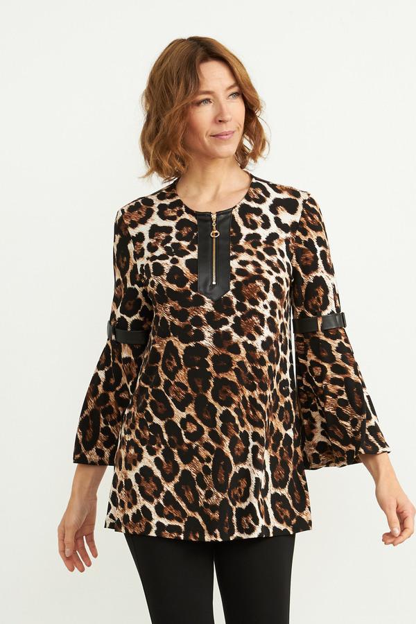 Joseph Ribkoff Brown/Multi Shirts & Blouses Style 203360