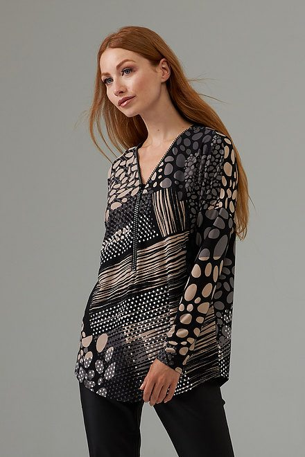 Joseph Ribkoff Front zip dotted top style 203368