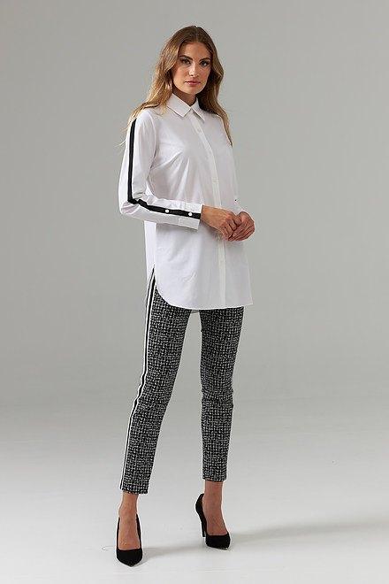Joseph Ribkoff Pantalons Noir/Ecru Style 203403