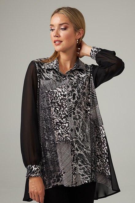 Joseph Ribkoff Sheer Sleeved Blouse Style 203405