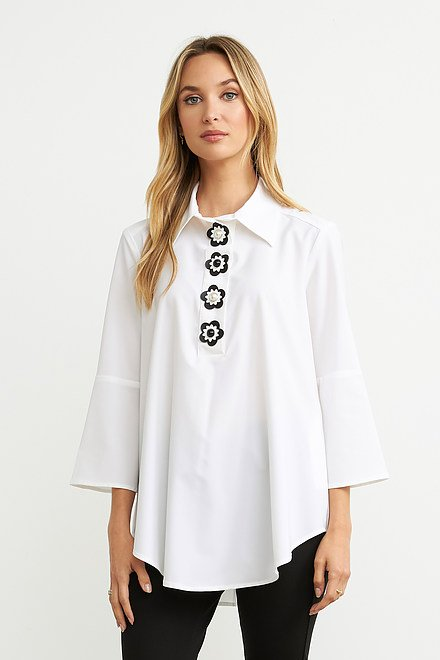 Joseph Ribkoff White Shirts & Blouses Style 203410