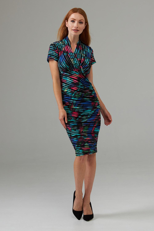 Joseph Ribkoff Robes Noir/Multi Style 203415