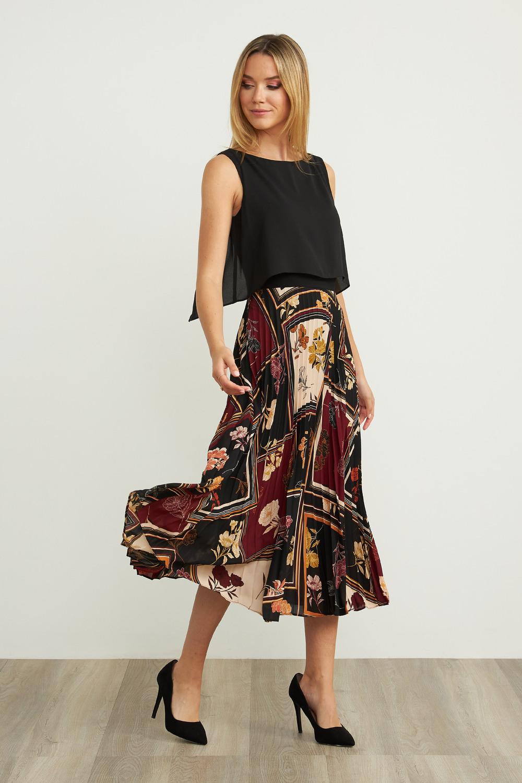 Joseph Ribkoff Robes Noir/Multi Style 203421