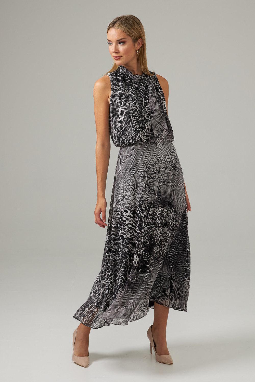 Joseph Ribkoff Black/Vanilla Dresses Style 203424