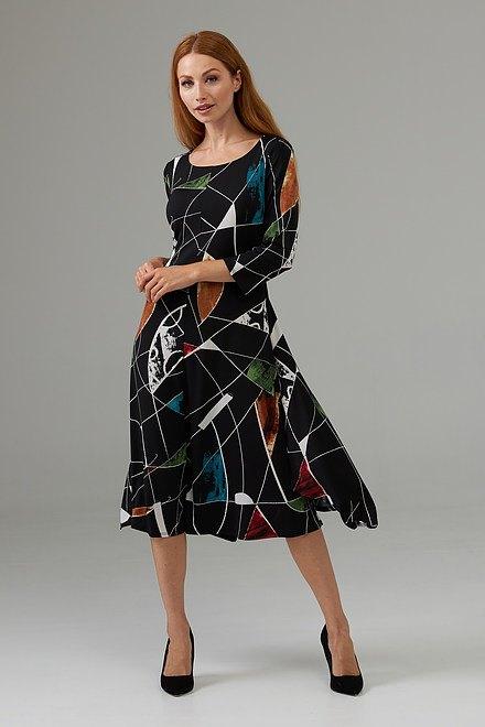 Joseph Ribkoff Black/Multi Dresses Style 203426