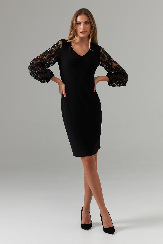 Joseph Ribkoff Robes Noir Style 203437