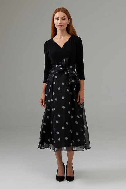 Joseph Ribkoff A-line polka-dot dress style 203440