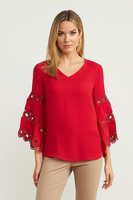 Joseph Ribkoff Lipstick Red 173 Shirts & Blouses Style 203441