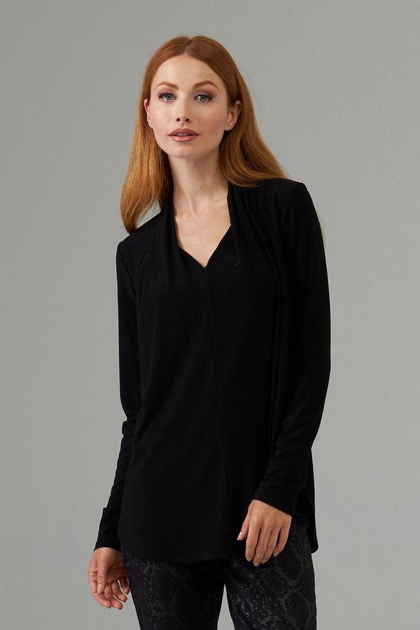 Joseph Ribkoff Long sleeve flowy tunic style 203451. Black