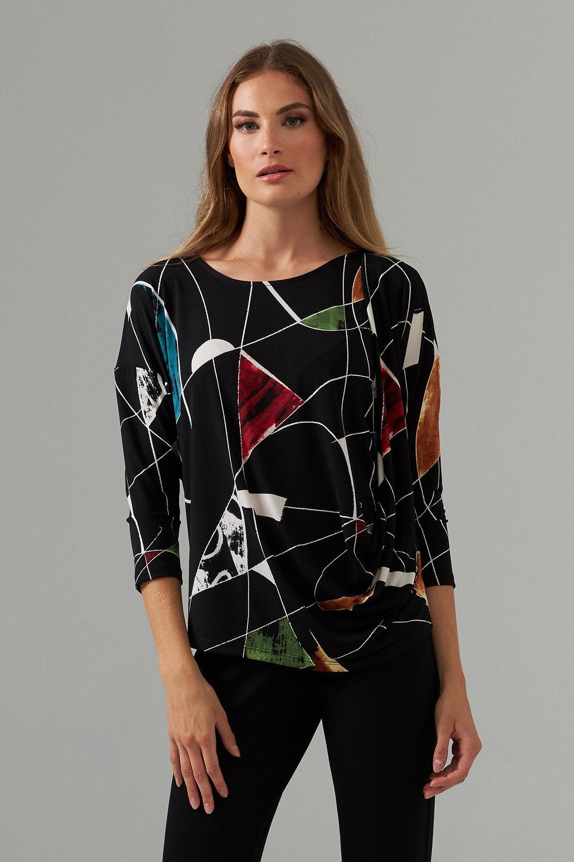 Joseph Ribkoff Black/Multi Shirts & Blouses Style 203462