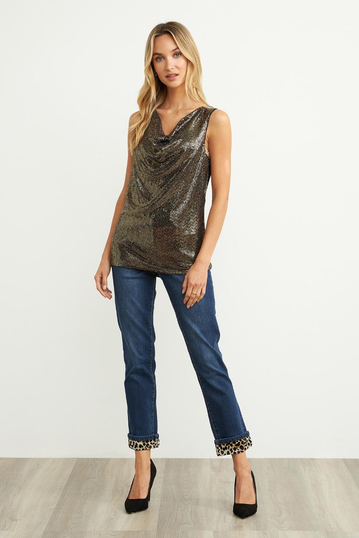 Joseph Ribkoff Blueberry Jeans Style 203486