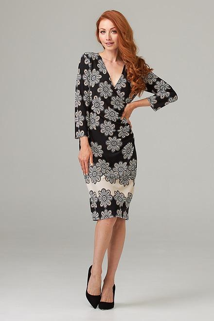 Joseph Ribkoff Black/Multi Dresses Style 203497