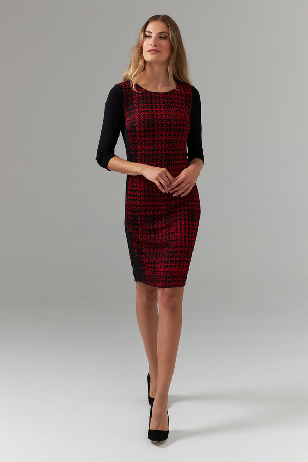 Joseph Ribkoff Black/Red Dresses Style 203499