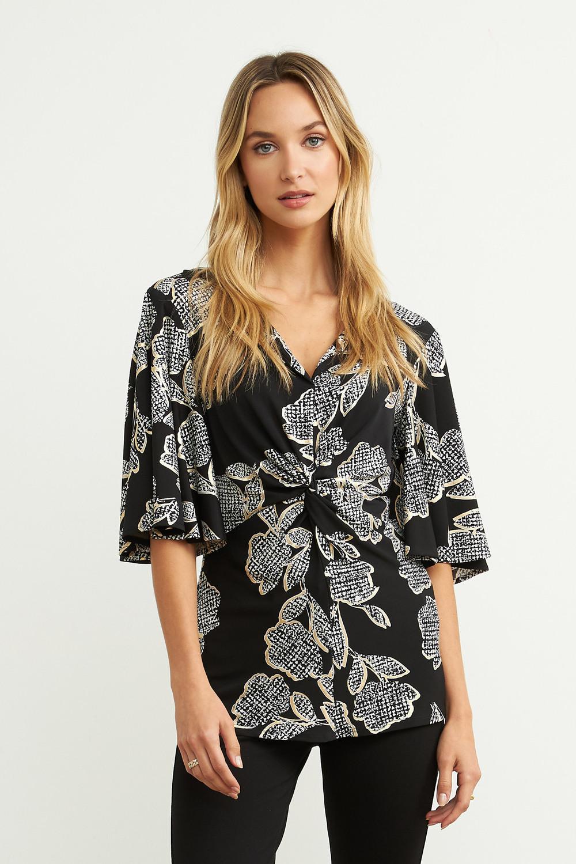 Joseph Ribkoff Chemises et blouses Noir/Vanille Style 203508