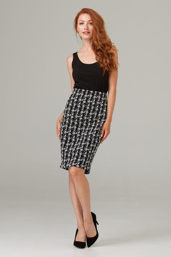 Joseph Ribkoff Skirt Style 203510. Black/Off White