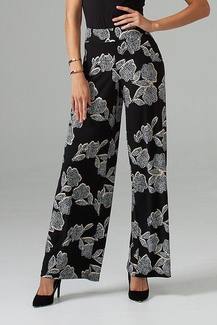 Joseph Ribkoff Black/Vanilla Pants Style 203538