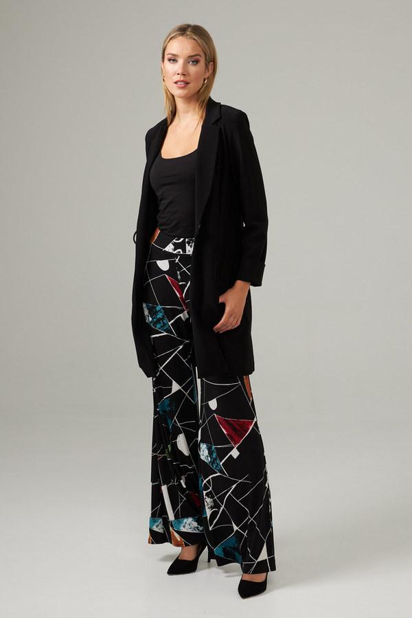 Joseph Ribkoff Colour Block Print Pant Style 203541. Black/Multi