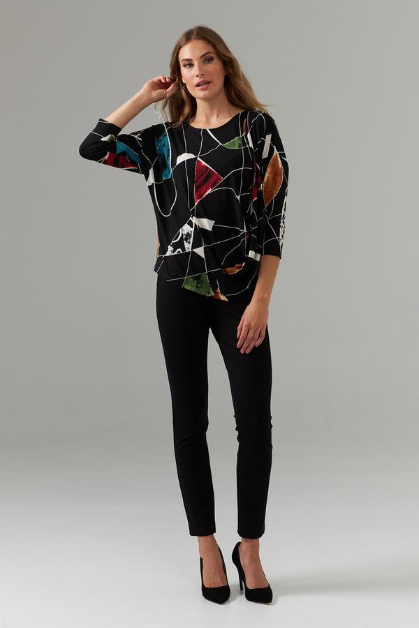 Joseph Ribkoff Elastic Waist Pants Style 203575. Black