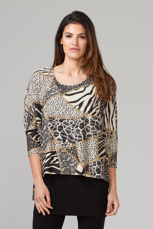 Joseph Ribkoff Off White/Black/Multi Tunics Style 203585