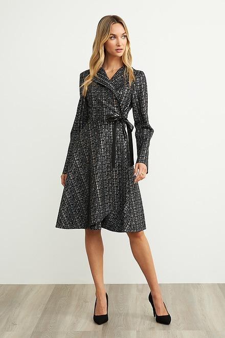Joseph Ribkoff Vêtements d'extérieur Noir/Argent Style 203589