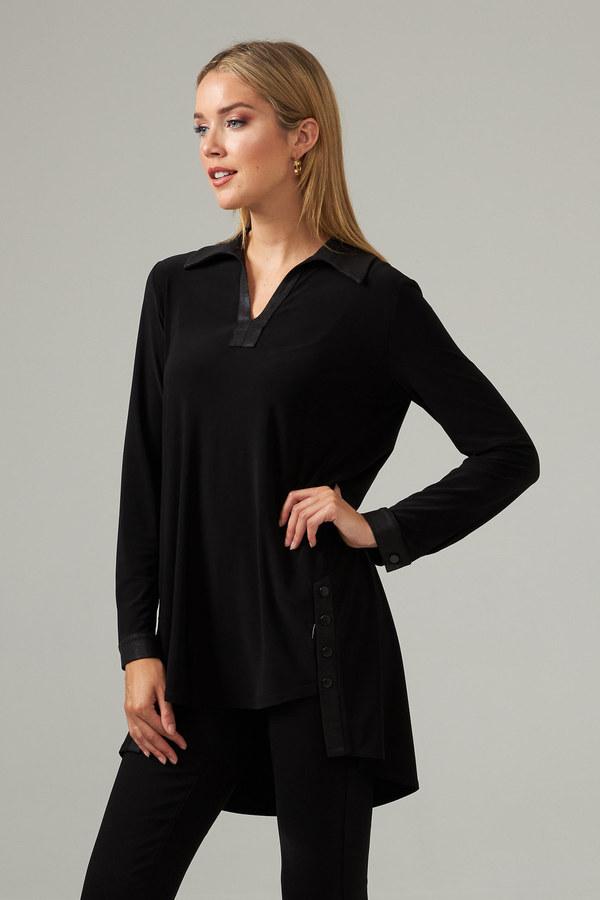 Joseph Ribkoff High-Low Hem Tunic Style 203599. Black