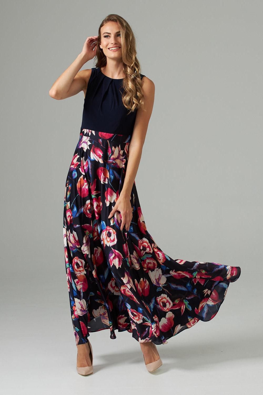 Joseph Ribkoff Midnight Blue/Multi Dresses Style 203620
