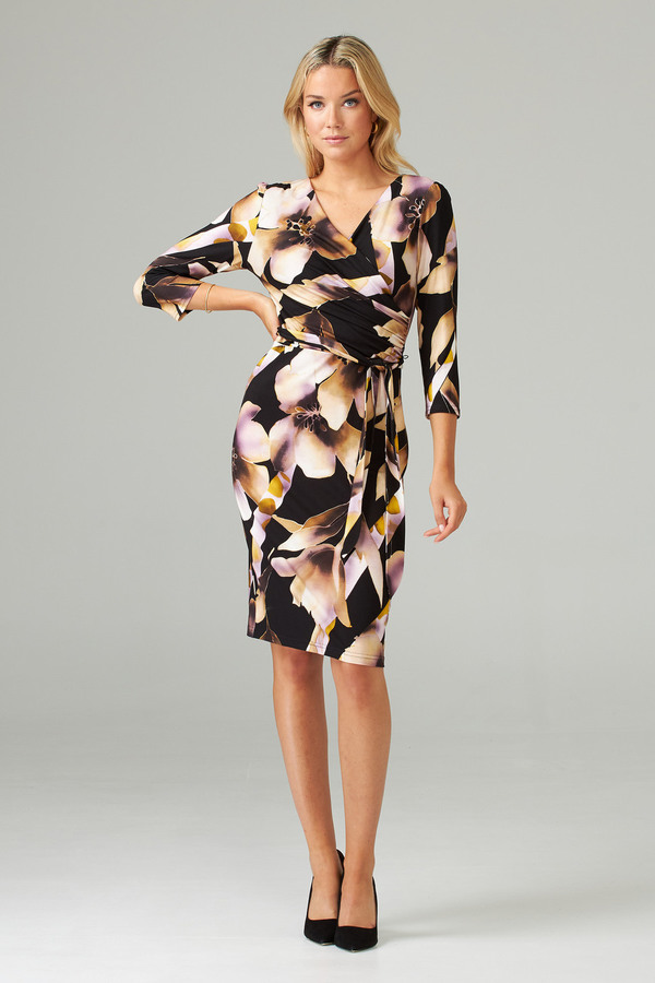 Joseph Ribkoff Robes Noir/Rose Style 203627