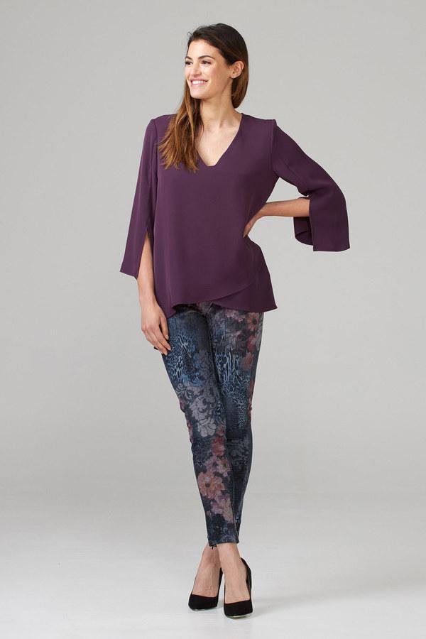 Joseph Ribkoff Pantalons Bleu Denim/Multi Style 203642