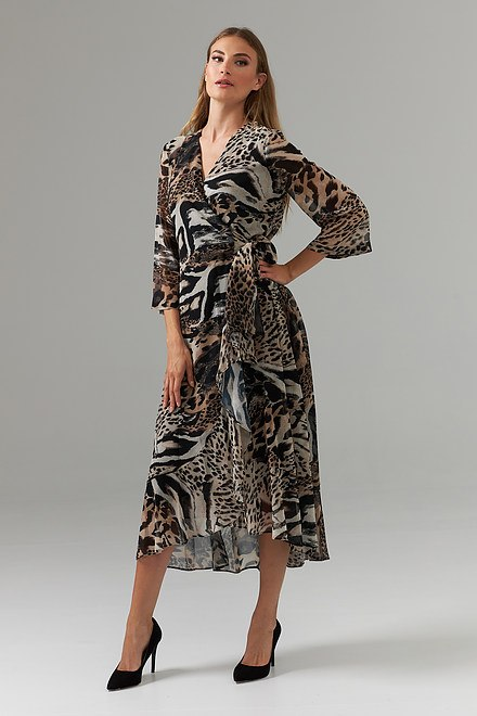 Joseph Ribkoff Black/Multi Dresses Style 203654