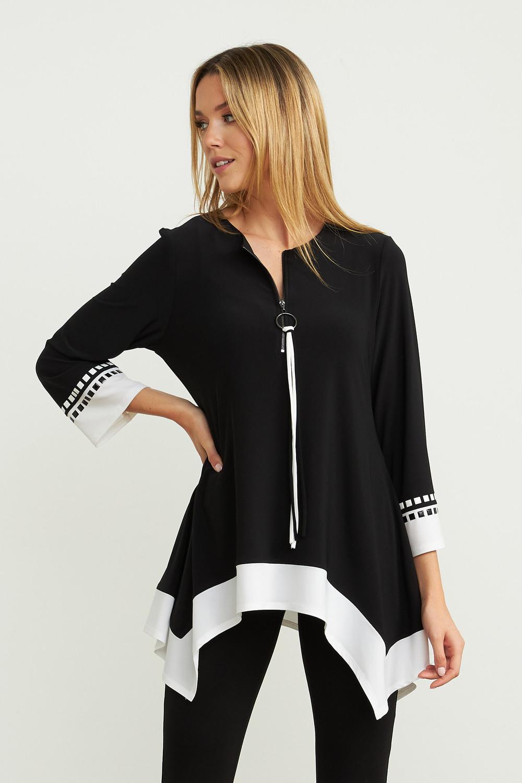Joseph Ribkoff Black/Vanilla Tunics Style 203684