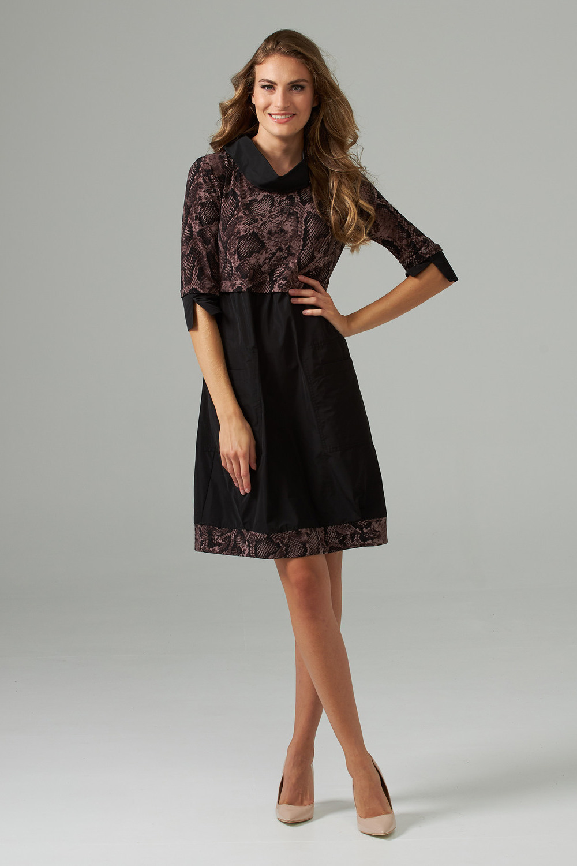 Joseph Ribkoff Black/Brown Dresses Style 203690