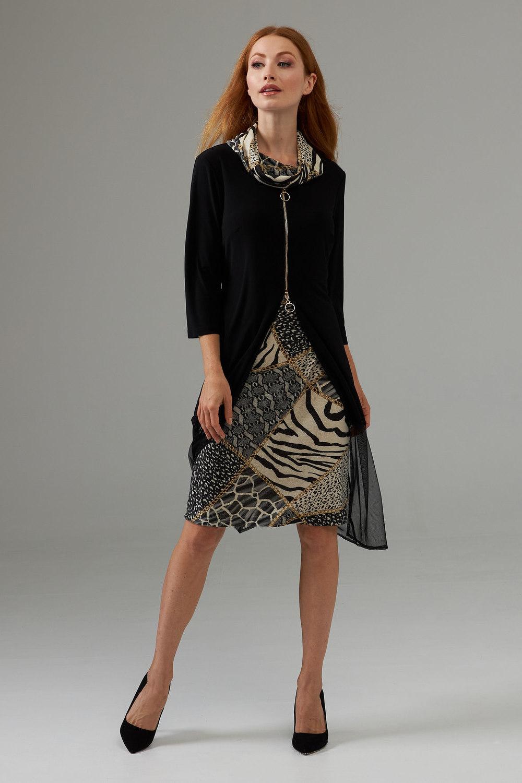 Joseph Ribkoff Robes Noir/Multi Style 203692