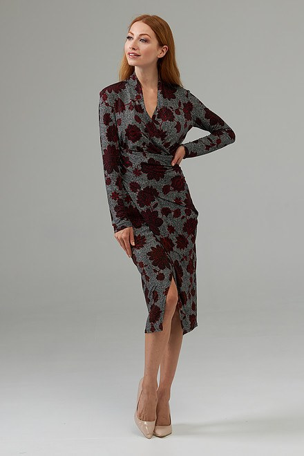 Joseph Ribkoff Robes Noir/Multi Style 203698