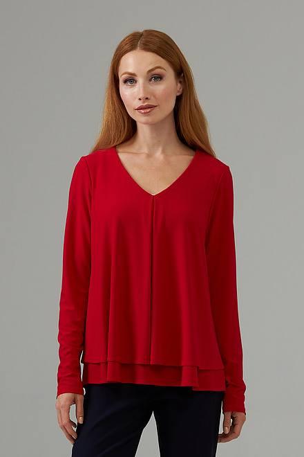 Joseph Ribkoff Chemises et blouses Rouge A Levres 173 Style 203701