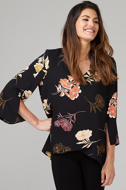 Joseph Ribkoff Black/Multi Shirts & Blouses Style 203715