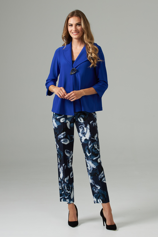 Joseph Ribkoff Midnight Blue/Multi Pants Style 203716