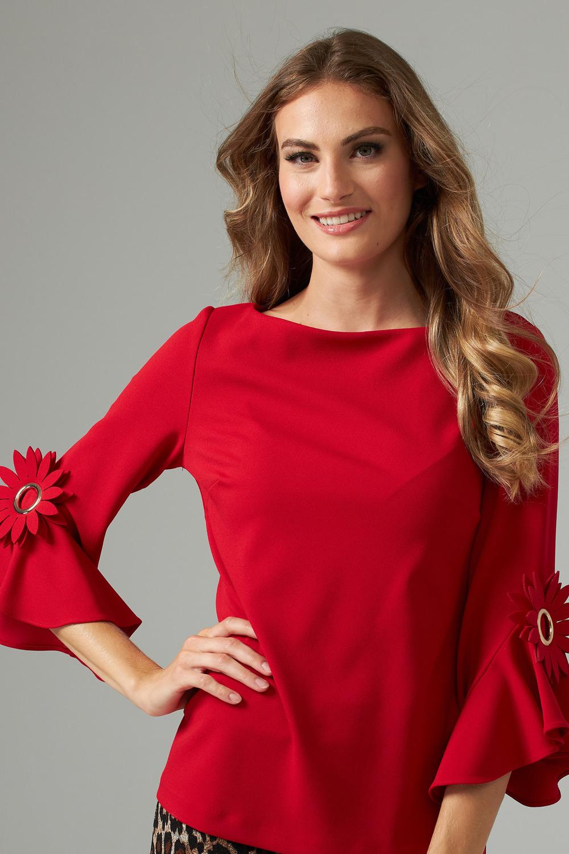 Joseph Ribkoff Lipstick Red 173 Shirts & Blouses Style 202150