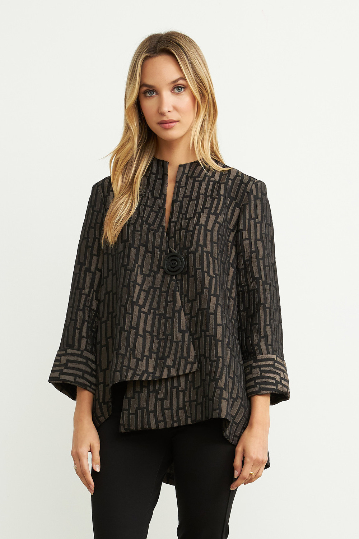 Joseph Ribkoff Black/Taupe Jackets Style 204075