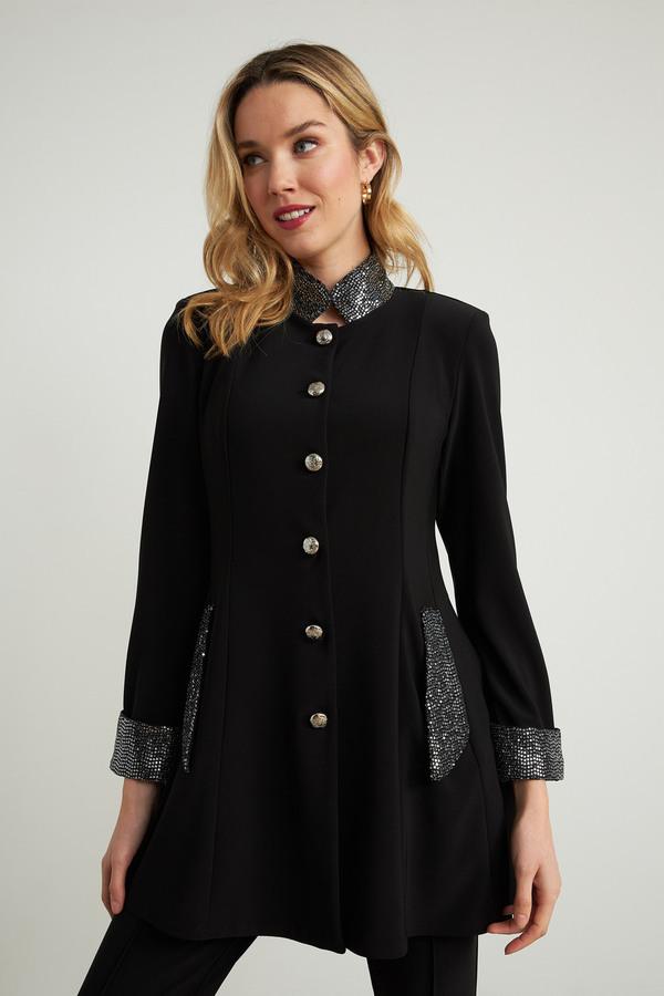 Joseph Ribkoff Black/Silver Jackets Style 204090