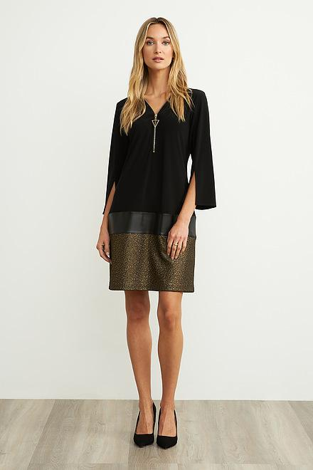 Joseph Ribkoff Black/Gold Dresses Style 204132