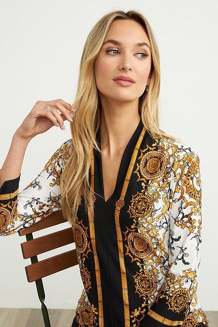 Joseph Ribkoff Black/Gold Shirts & Blouses Style 204203