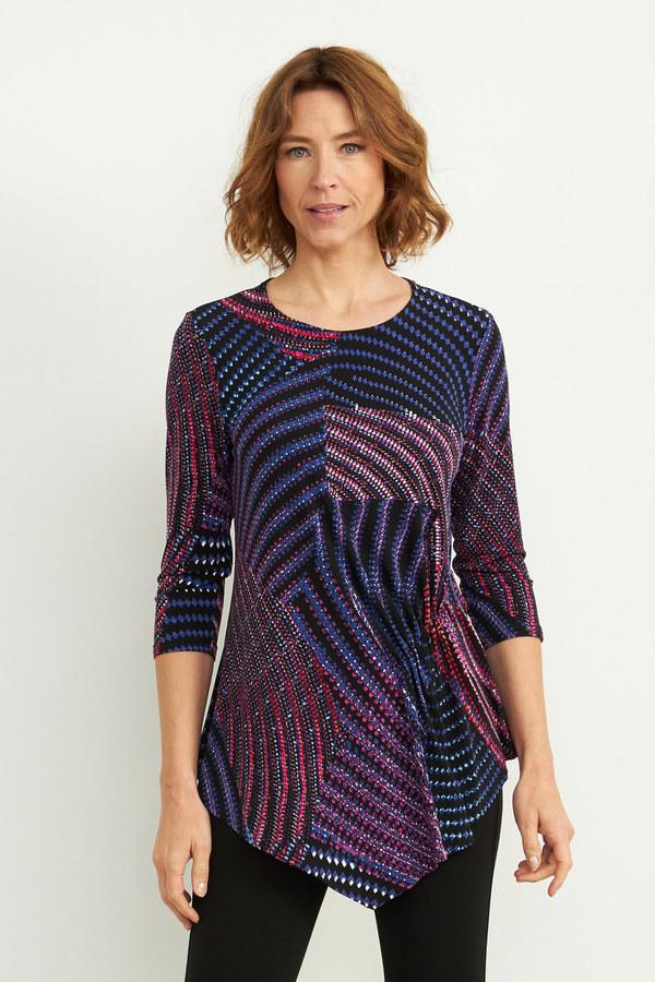 Joseph Ribkoff Purple/Multi Shirts & Blouses Style 204210