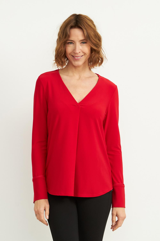 Joseph Ribkoff Lipstick Red 173 Shirts & Blouses Style 204265
