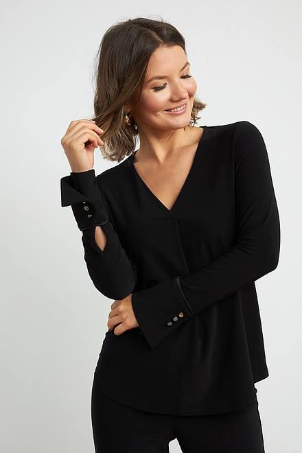Joseph Ribkoff Black Shirts & Blouses Style 204265