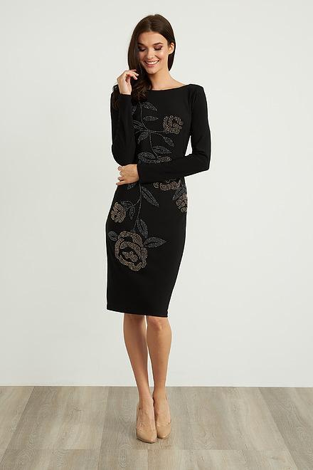 Joseph Ribkoff Embellished Long Sleeve Dress Style 204310