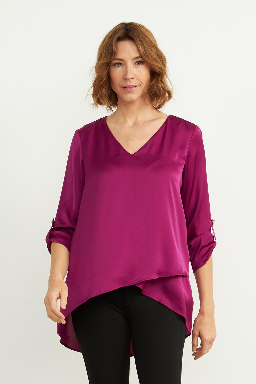 Joseph Ribkoff Magenta Shirts & Blouses Style 204312
