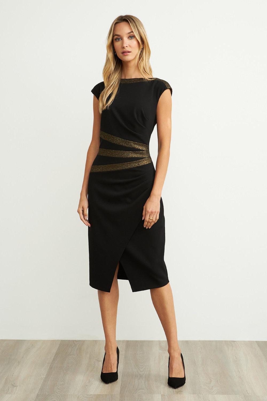 Joseph Ribkoff Black/Gold Dresses Style 204318